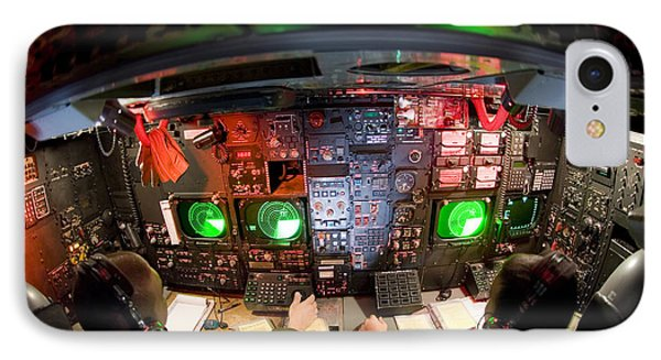 Pilots At The Controls Of A B-52 Phone Case by Stocktrek Images
