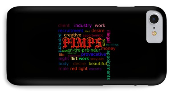 Pimps IPhone Case by Lynda Payton