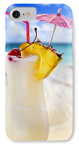 Pina Colada Cocktail On The Beach IPhone Case