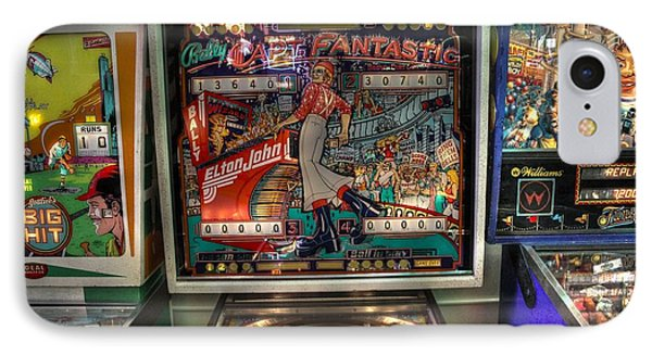 Pinball Elton John Bally IPhone Case by Jane Linders