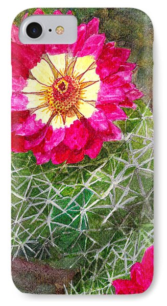 IPhone Case featuring the painting Pincushion Cactus by Eric Samuelson