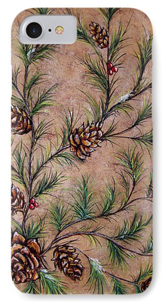 Pine Cones And Spruce Branches Phone Case by Nancy Mueller
