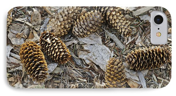 Pine Cones Phone Case by Michael Peychich