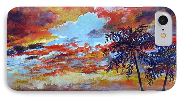 IPhone Case featuring the painting Pine Island Sunset by Lou Ann Bagnall