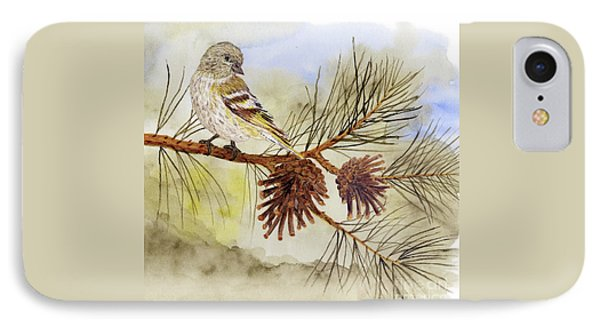 Pine Siskin Among The Pinecones IPhone Case