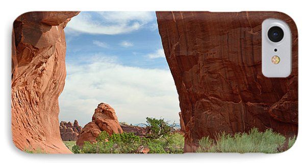 IPhone Case featuring the photograph Pine Tree Arch In Utah by Bruce Gourley