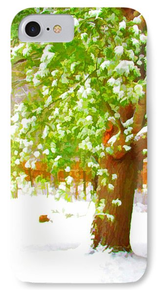 Pine Tree Covered With Snow 1 Phone Case by Lanjee Chee