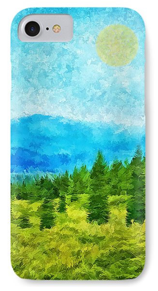 Pine Tree Mountain Blue - Shasta California IPhone Case by Joel Bruce Wallach