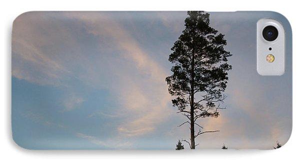 Pine Tree Silhouette IPhone Case by Kennerth and Birgitta Kullman