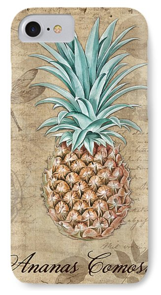 Pineapple, Ananas Comosus Vintage Botanicals Collection IPhone 7 Case by Tina Lavoie