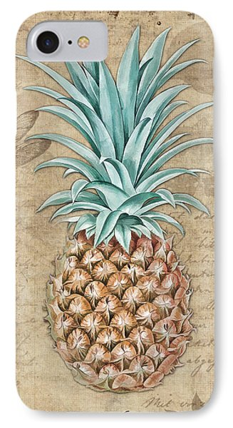 Pineapple, Ananas Comosus Vintage Botanicals Collection IPhone 7 Case