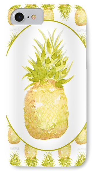 IPhone Case featuring the painting Pineapple Cameo by Cindy Garber Iverson