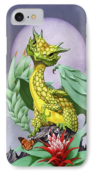 IPhone Case featuring the digital art Pineapple Dragon by Stanley Morrison