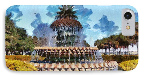 IPhone Case featuring the painting Pineapple Fountain by Lynne Jenkins