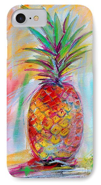 IPhone Case featuring the painting Pineapple Mixed Media Painting by Ginette Callaway