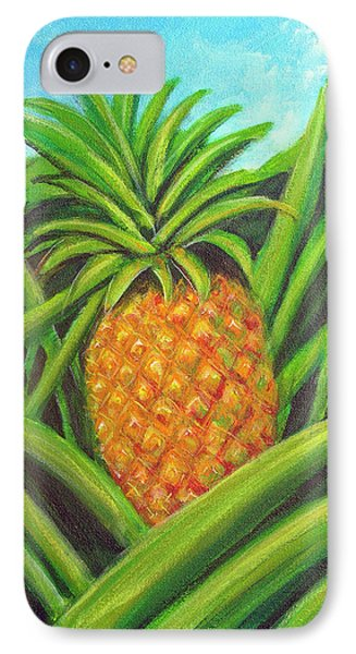 Pineapple Painting #332 Phone Case by Donald k Hall