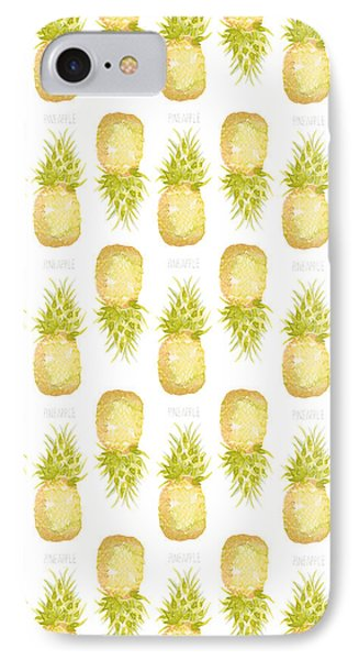 IPhone Case featuring the painting Pineapple Print by Cindy Garber Iverson