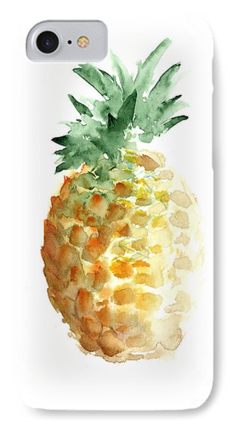 Pineapple Watercolor Minimalist Painting IPhone 7 Case