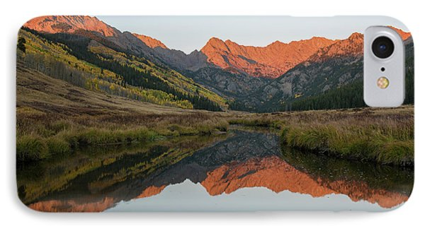 IPhone 7 Case featuring the photograph Piney River Autumn Sunrise by Aaron Spong