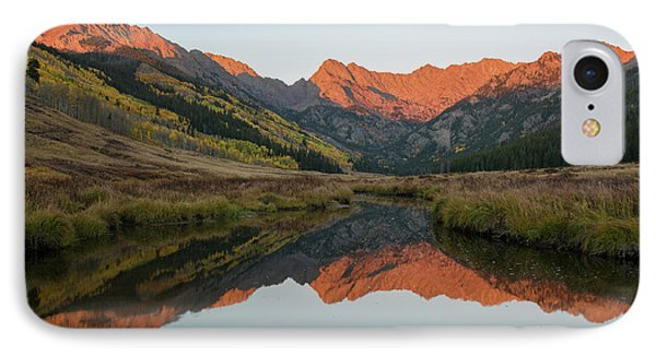 IPhone Case featuring the photograph Piney River Autumn Sunrise by Aaron Spong