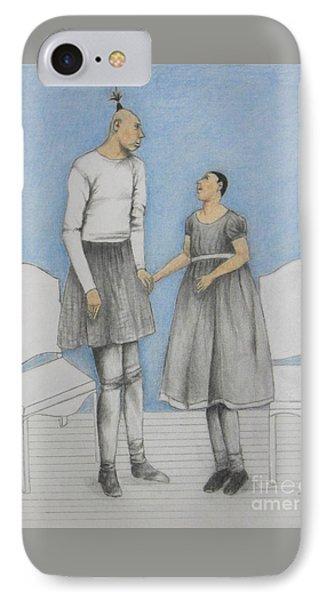 Pinhead Friends -- Portrait Of 2 Developmentally Disabled Men IPhone Case