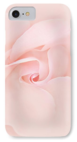 Pink Abstract Rose Flower Phone Case by Jennie Marie Schell