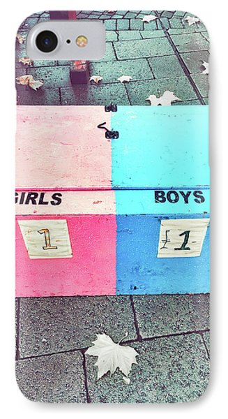 Pink And Blue Crate IPhone Case by Tom Gowanlock