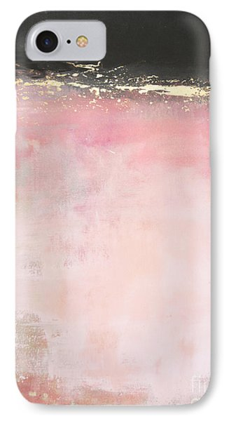 Pink And Gold - Again IPhone Case by Anahi DeCanio