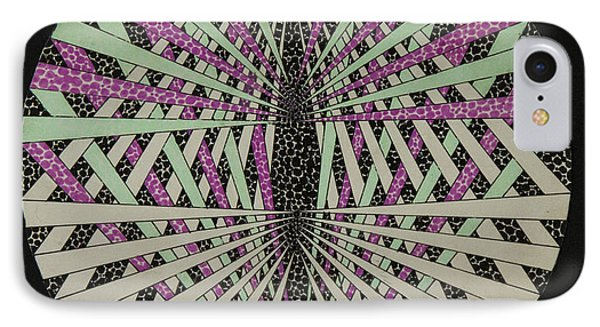 Pink And Green Anigav IPhone Case by KC Pearson