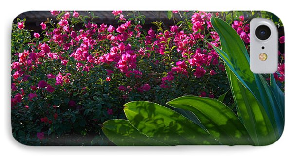 IPhone Case featuring the photograph Pink And Green by Jim Walls PhotoArtist