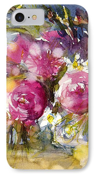 Pink And Navy IPhone Case by Judith Levins