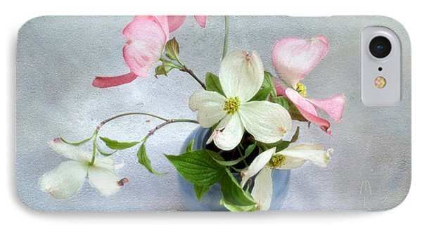 Pink And White Dogwood Still IPhone Case by Louise Kumpf