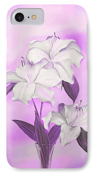 IPhone Case featuring the mixed media Pink And White by Elizabeth Lock