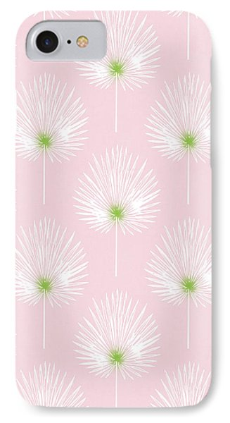 Pink And White Palm Leaves- Art By Linda Woods IPhone Case