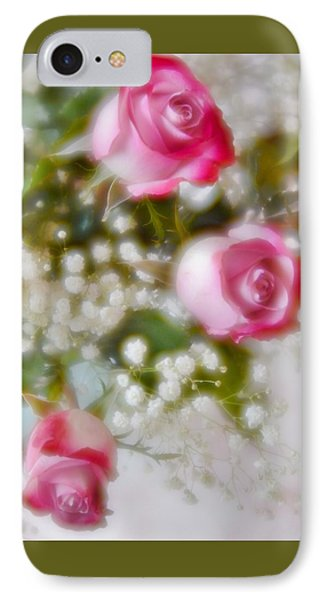 IPhone Case featuring the photograph Pink And White Rose Bouquet by Diane Alexander