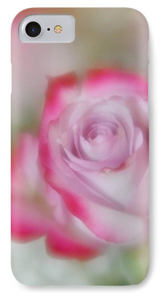 IPhone Case featuring the photograph Pink And White Rose  by Diane Alexander
