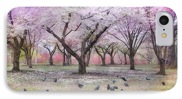 IPhone Case featuring the photograph Pink And White Spring Blossoms - Boston Common by Joann Vitali