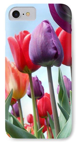 Pink Baby In Tulip Garden IPhone Case