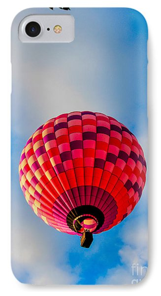 Pink Balloon IPhone Case by Victory  Designs