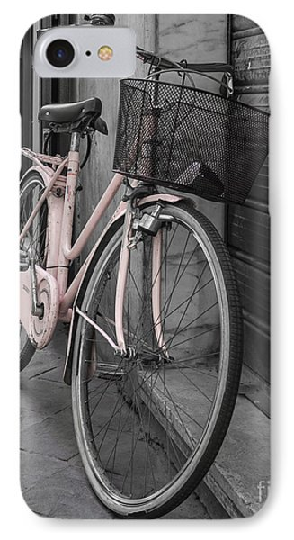 Pink Bicycle In Rome IPhone Case