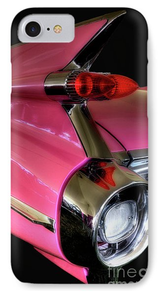 IPhone Case featuring the photograph Pink Cadillac Blackout by Trey Foerster