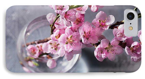 Pink Cherry Blossom IPhone Case by Anastasy Yarmolovich