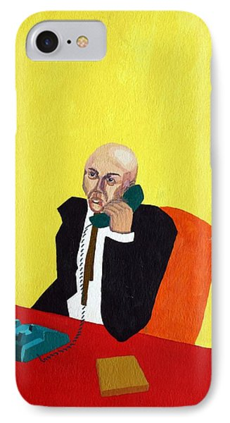 Pink Collar Man Phone Case by Sheri Buchheit