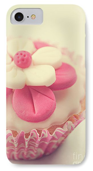 IPhone Case featuring the photograph Pink Cupcake by Lyn Randle