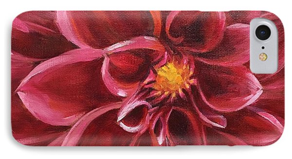 Pink Dahlia IPhone Case by Pam Talley