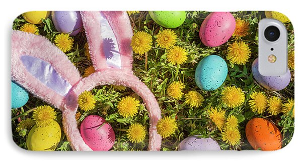 IPhone Case featuring the photograph Pink Easter Bunny Ears by Teri Virbickis
