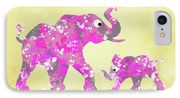 Pink Elephants IPhone Case by Christina Rollo