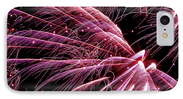 IPhone Case featuring the photograph Pink Flamingo Fireworks #0710 by Barbara Tristan