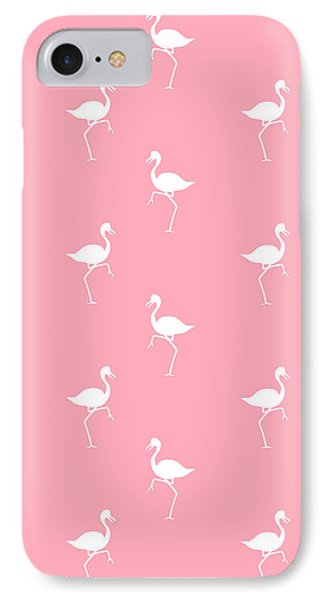 Pink Flamingos Pattern IPhone 7 Case by Christina Rollo