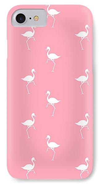 Pink Flamingos Pattern IPhone Case